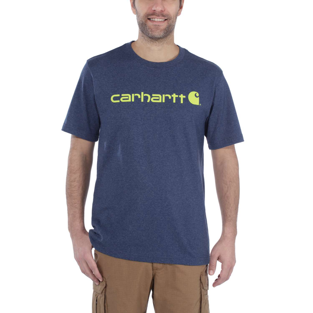 Carhartt Core Logo T-shirt S/S Deep Blue Indigo Small