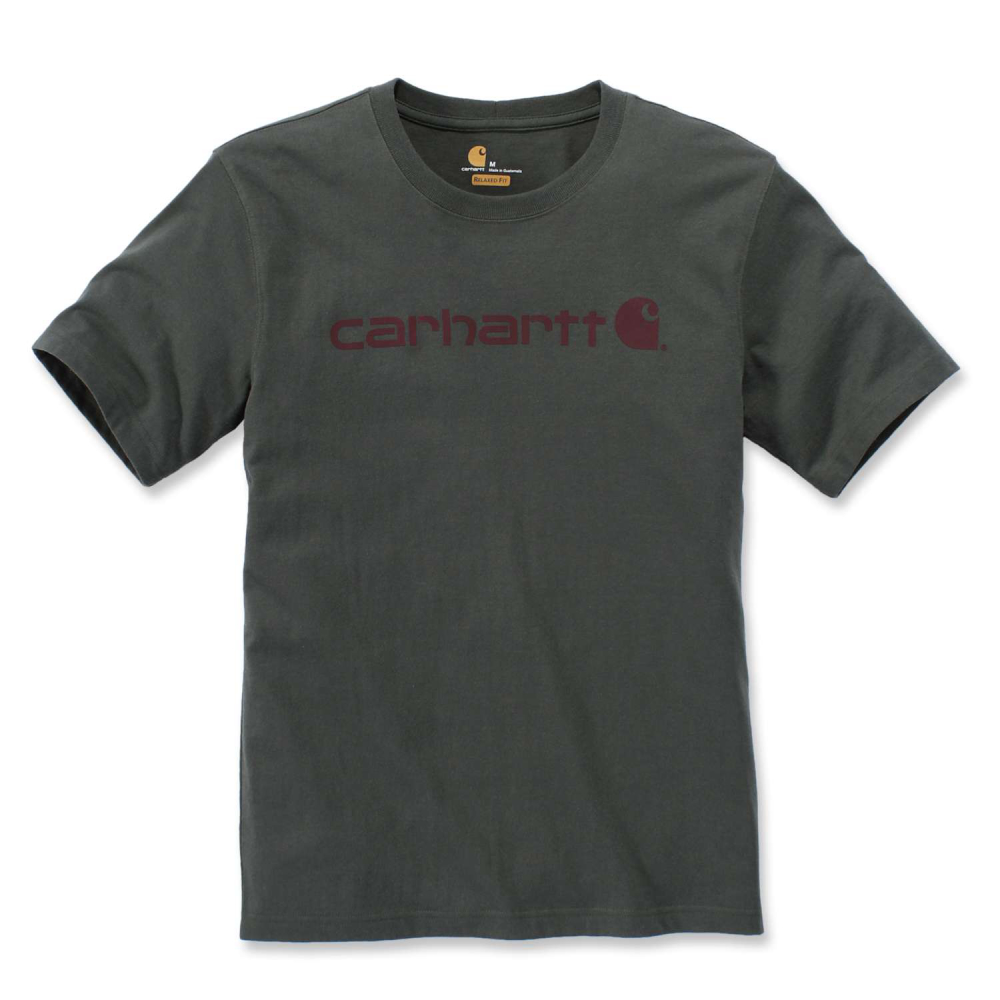 Carhartt Core Logo T-shirt S/S Olivine Heather Large
