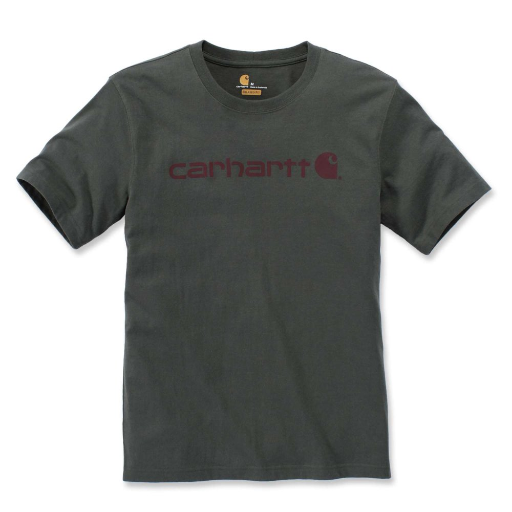 Carhartt Core Logo T-shirt S/S Olivine Heather XL