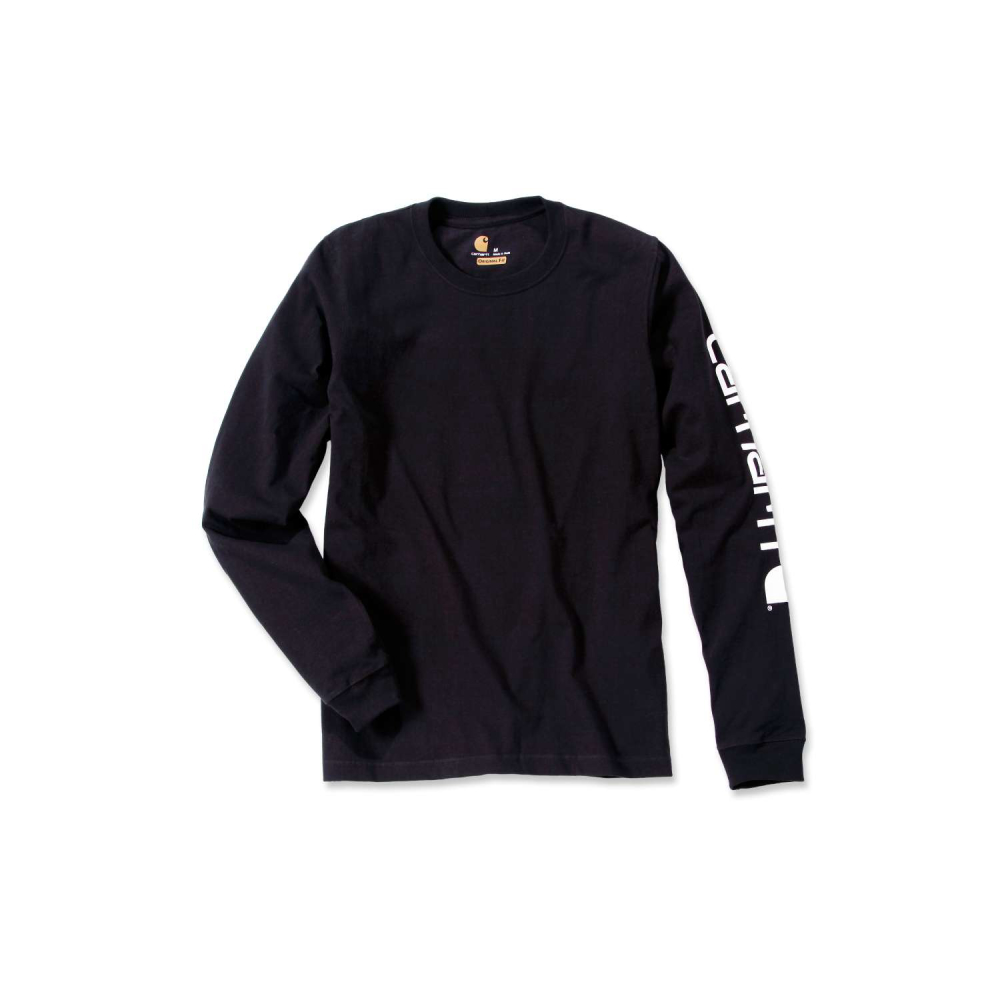 Carhartt Sleeve Logo T-shirt L/S Svart Medium
