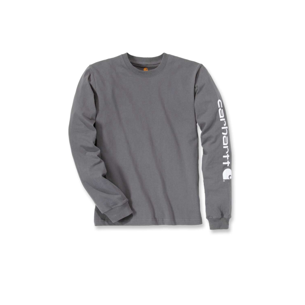 Carhartt Sleeve Logo T-shirt L/S Charcoal Small