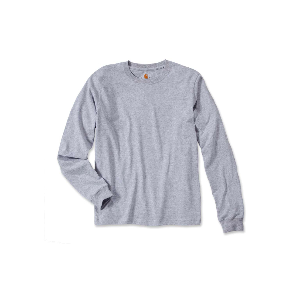 Carhartt Sleeve Logo T-shirt L/S Heather Grey Large