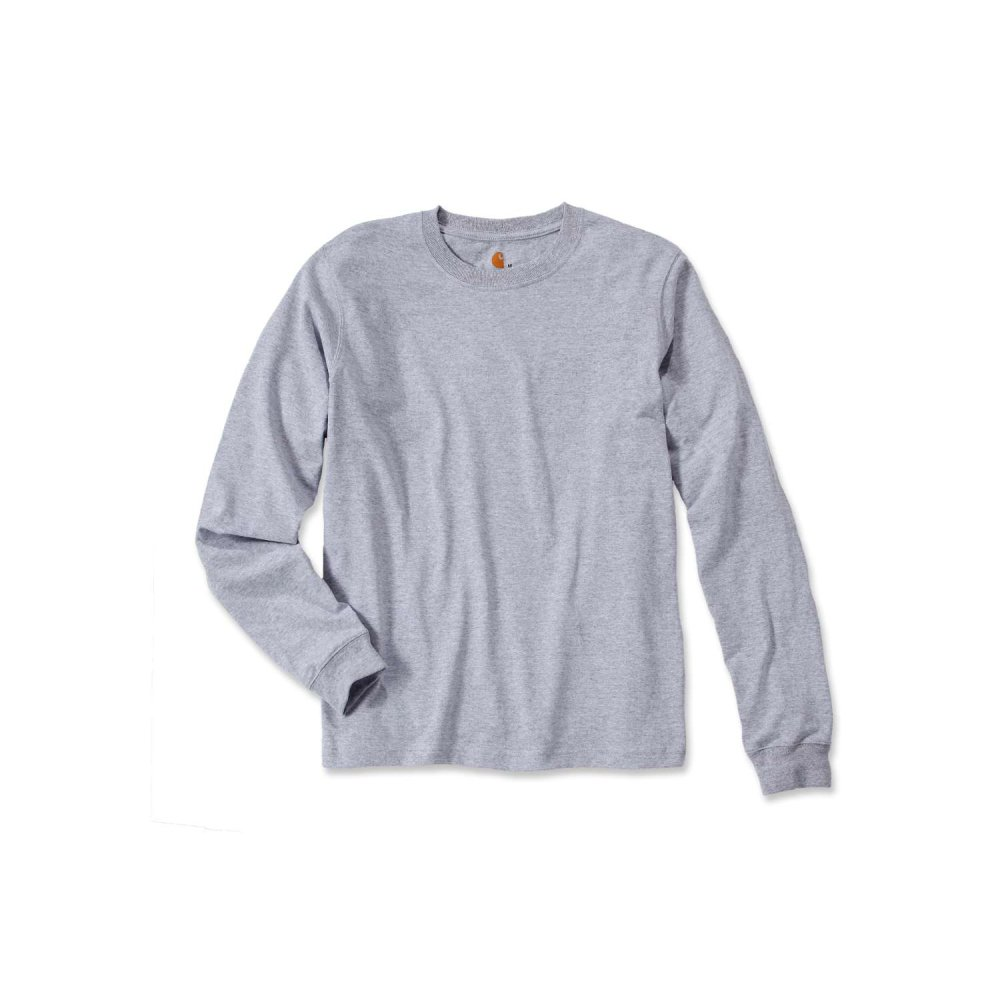 Carhartt Sleeve Logo T-shirt L/S Heather Grey XL