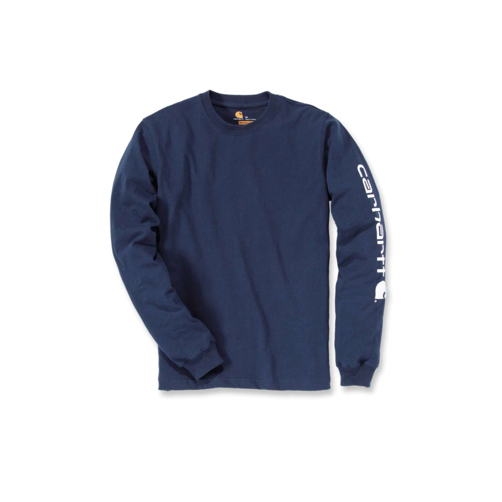 Carhartt Sleeve Logo T-shirt L/S Navy Large