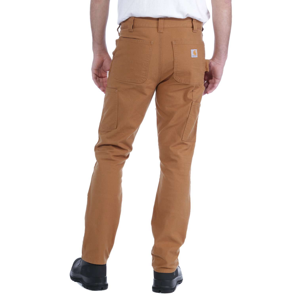 Carhartt Stretch Duck Double Front Brun W34/L32