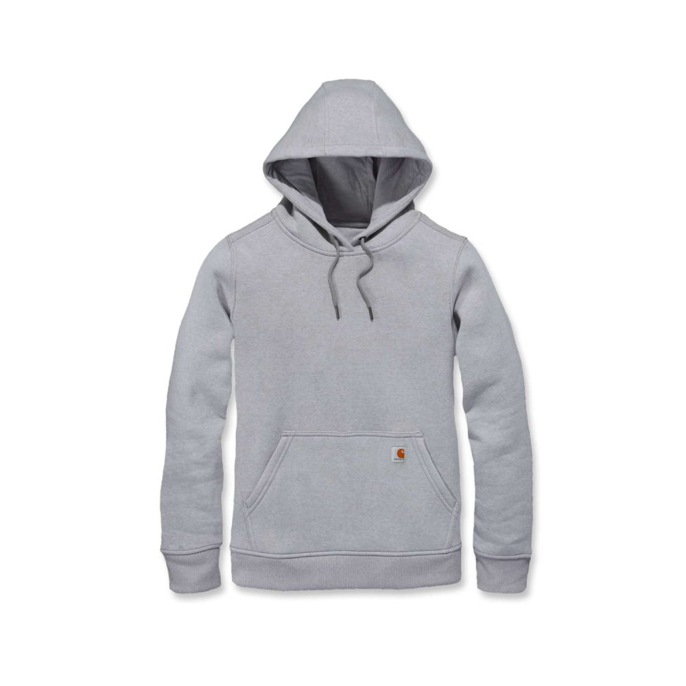 Carhartt W Clarksburg Pullover Sweat Asphalt Heather Small