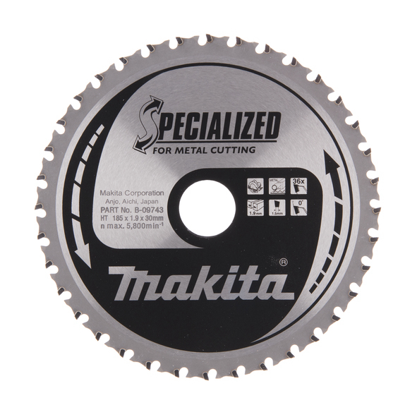 Makita Metallkapklinga 185x30mm 36T