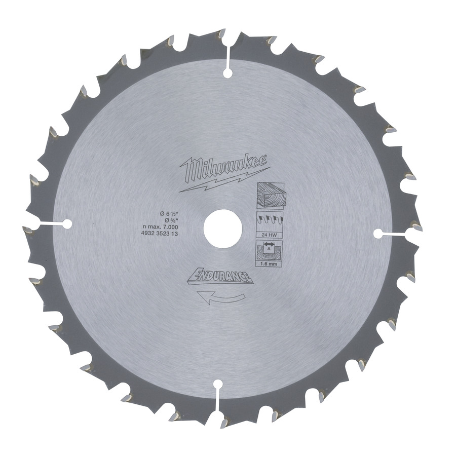 Milwaukee Endurance Trä 165x15,87mm 24T