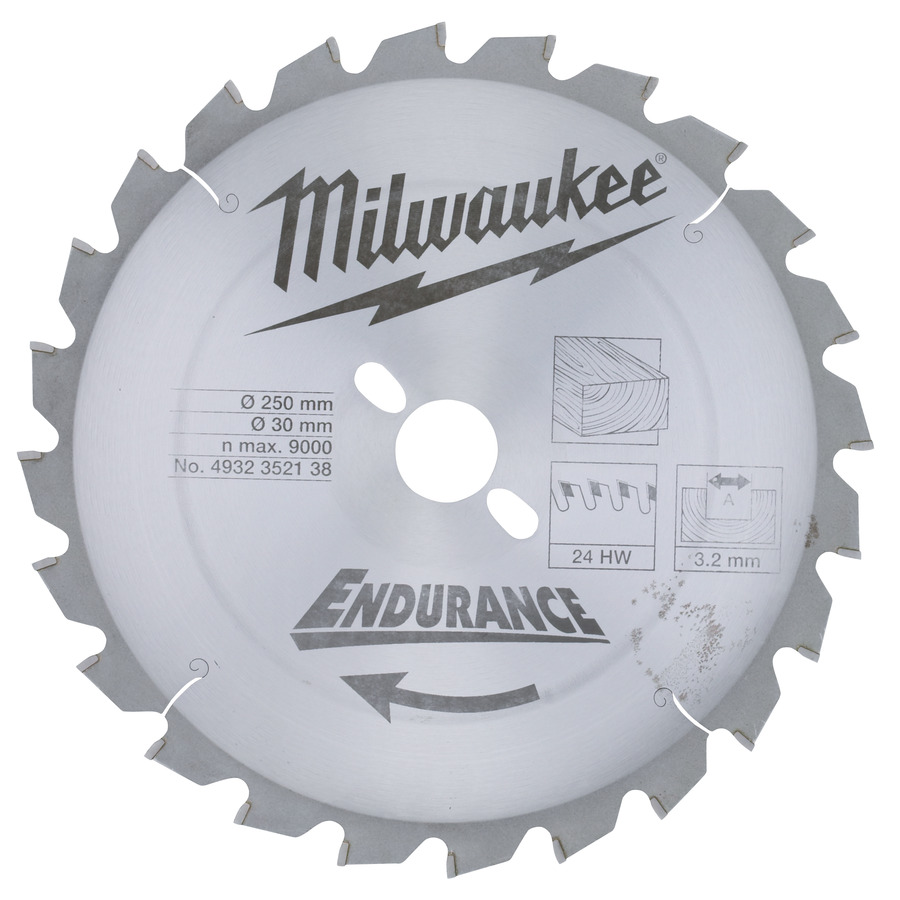 Milwaukee Trä 250x30x3,2mm 24T