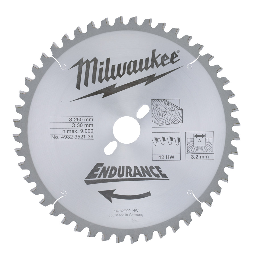 Milwaukee Endurance Trä 250x30x3,2mm 48T