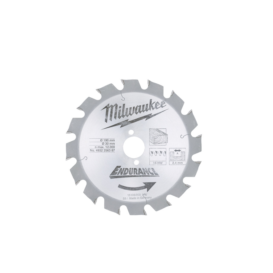 Milwaukee Endurance Trä 190x30mm 16T
