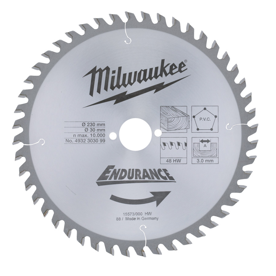 Milwaukee Endurance PVC/Trä 230x30mm 48T