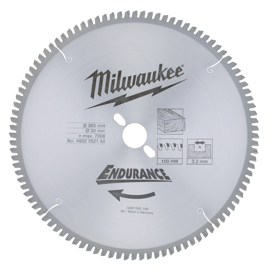 Milwaukee Endurance Trä 305x30mm 100T