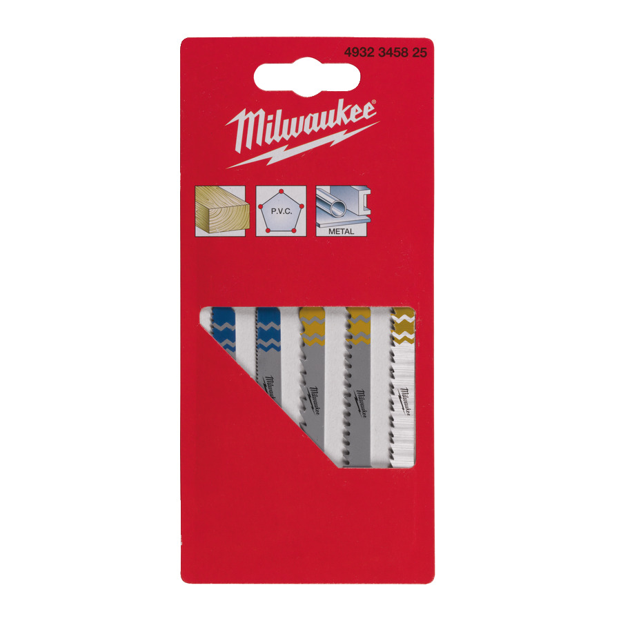 Milwaukee Sats med sticksågsblad 5-pack