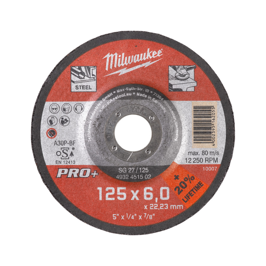 Milwaukee PRO+ SG 27/125x6mm