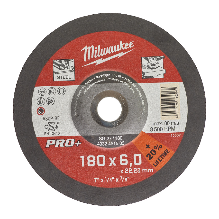 Milwaukee PRO+ SG 27/180x6mm