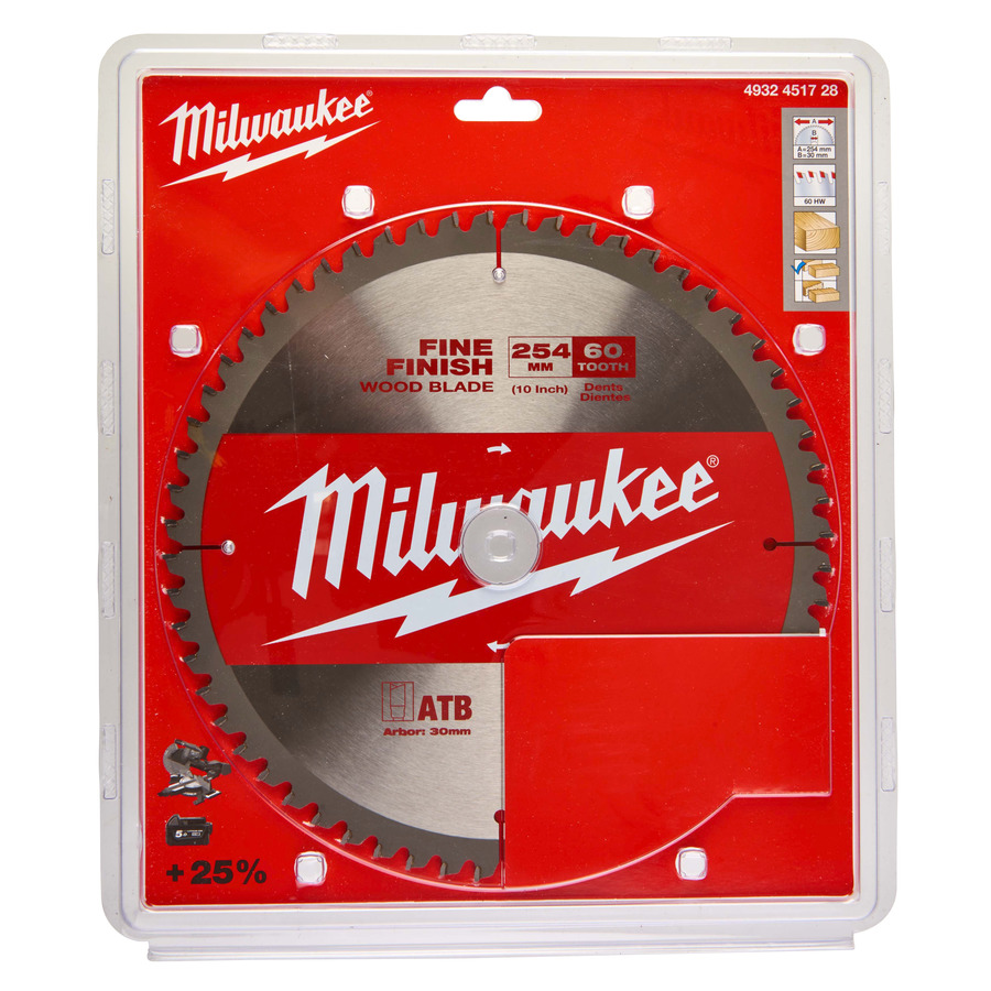 Milwaukee Klinga 254x30mm 60T