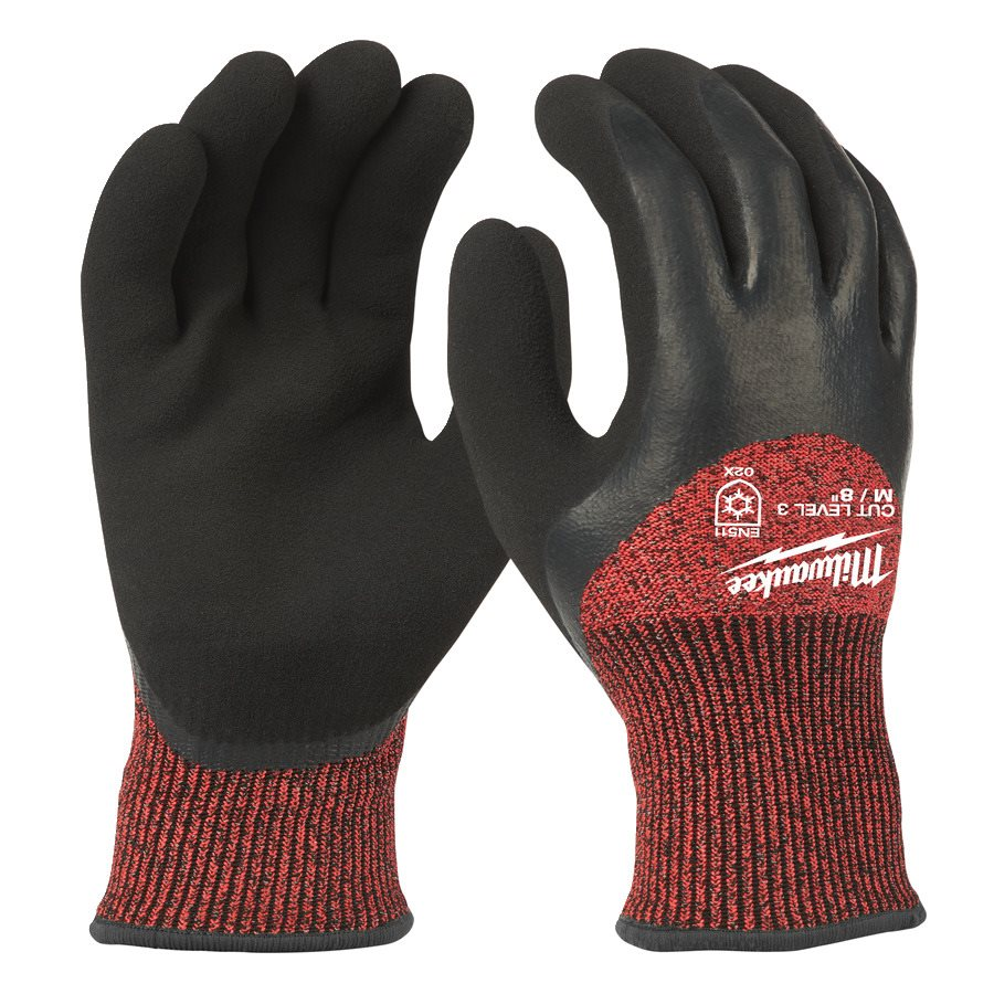 Milwaukee Winter Gloves Cut Level 3 Strl 8
