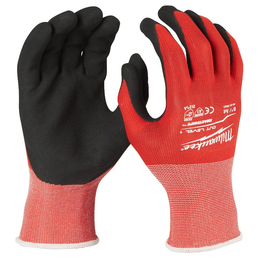 Milwaukee Gloves Cut Level 1 Strl 8