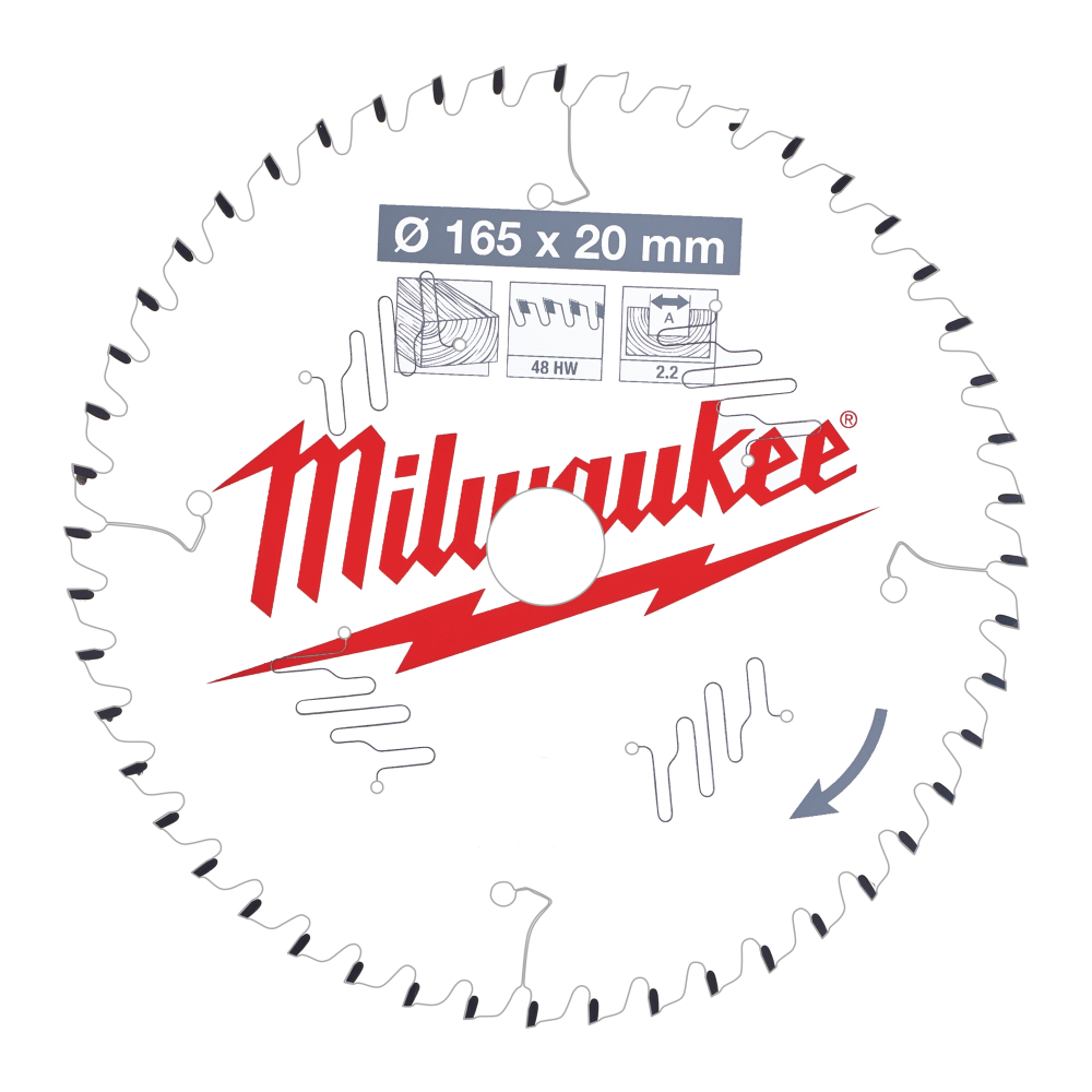 Milwaukee CSB P Wood Sågklinga 165x2,2x20mm 48T