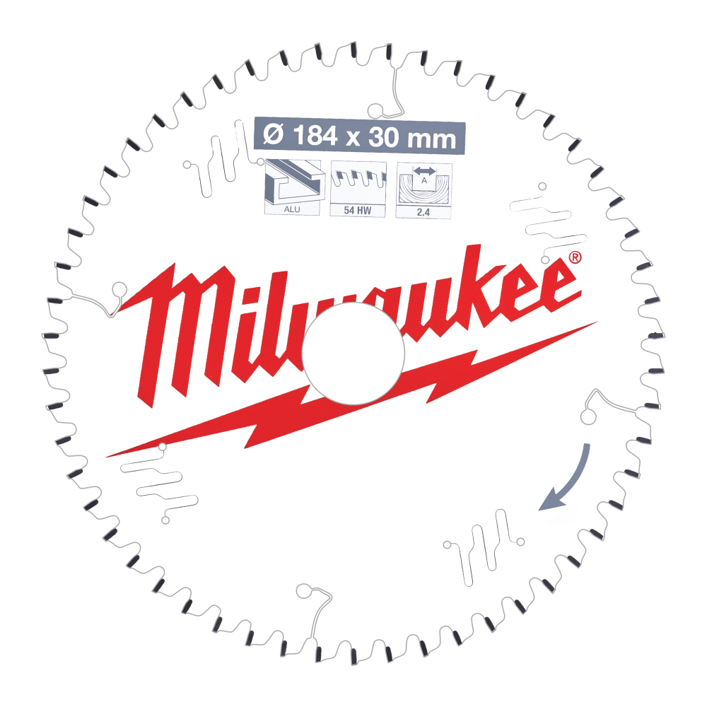 Milwaukee CSB P Alu Sågklinga 184x2,4x30mm 54T