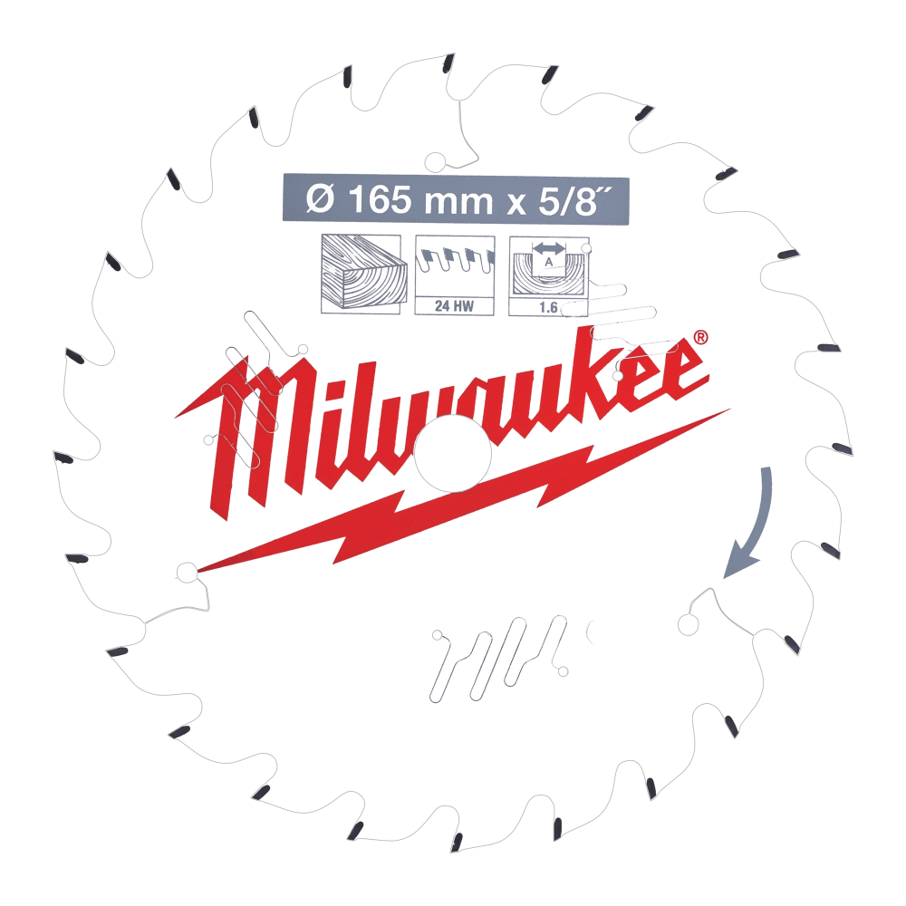 Milwaukee CSB P Wood Sågklinga 165x1,6x15,87mm 24T