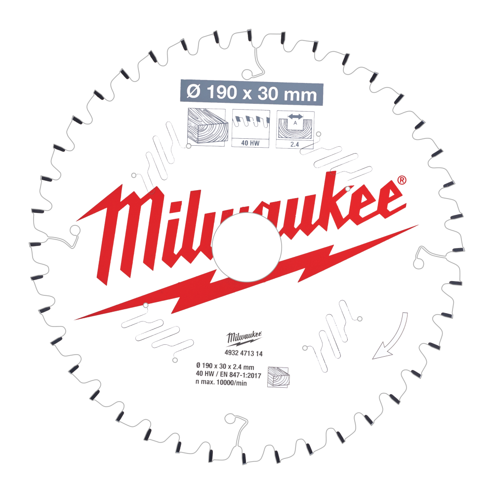 Milwaukee CSB MS W 190x2,4x30mm 40T