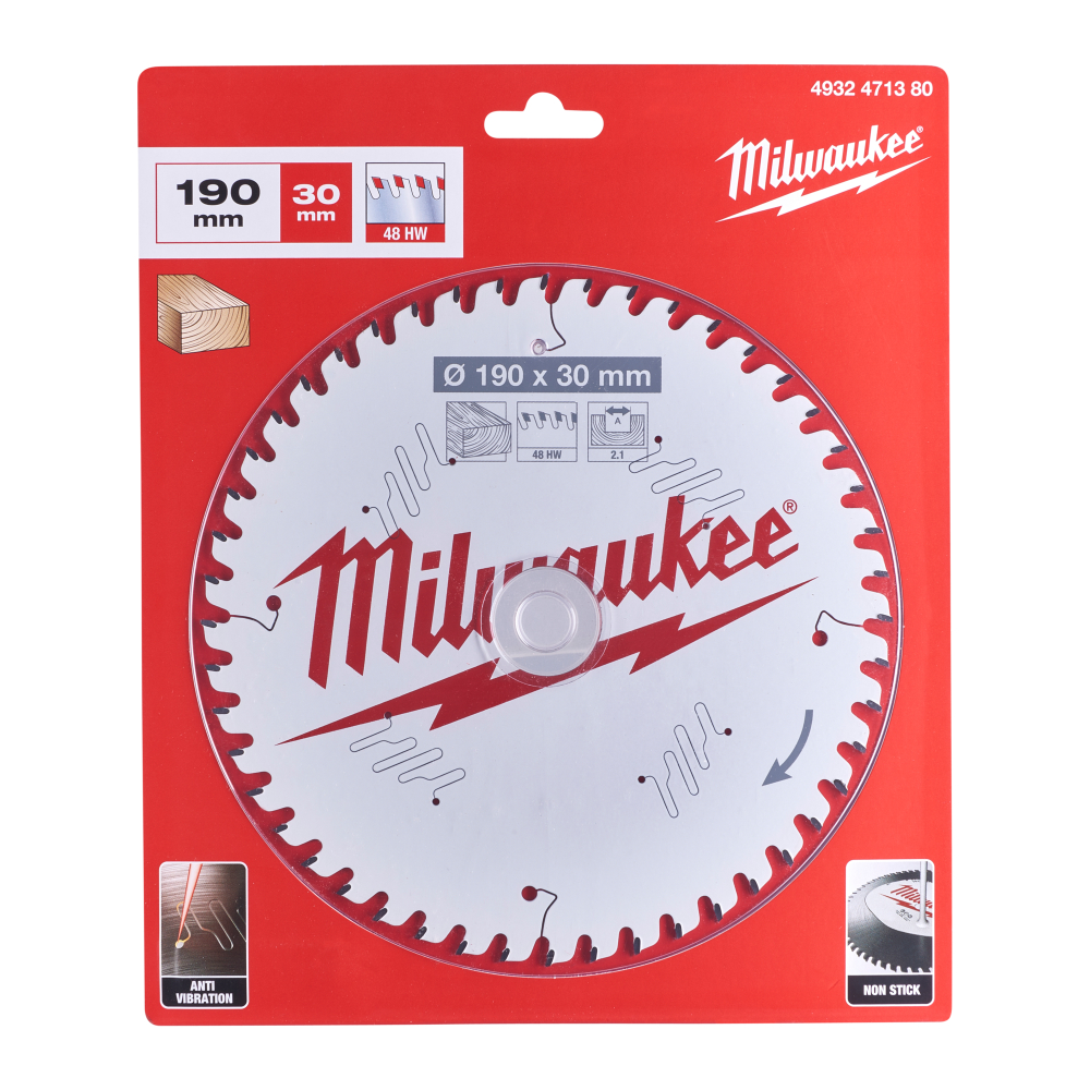 Milwaukee CSB P Wood Sågklinga 190x2,1x30mm 48T