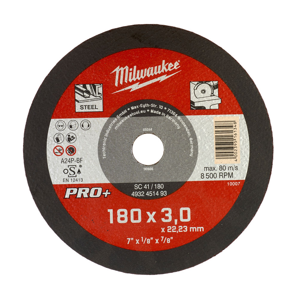 Milwaukee PRO+ SC 41/180x3mm