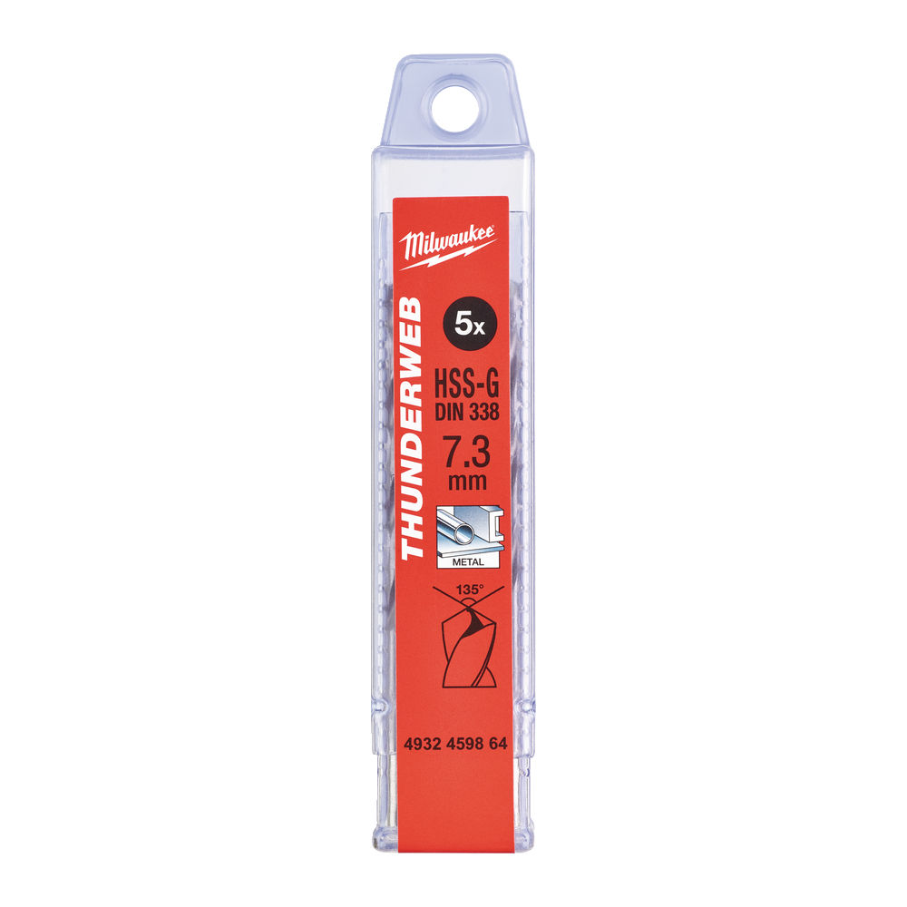 Milwaukee HSSG Metallborr 7,3mm 5-pack