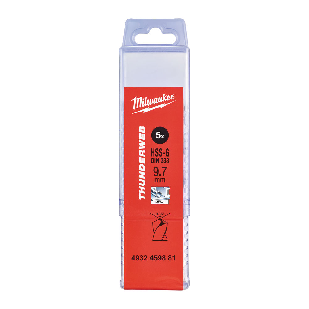 Milwaukee HSSG Metallborr 9,7mm 5-pack