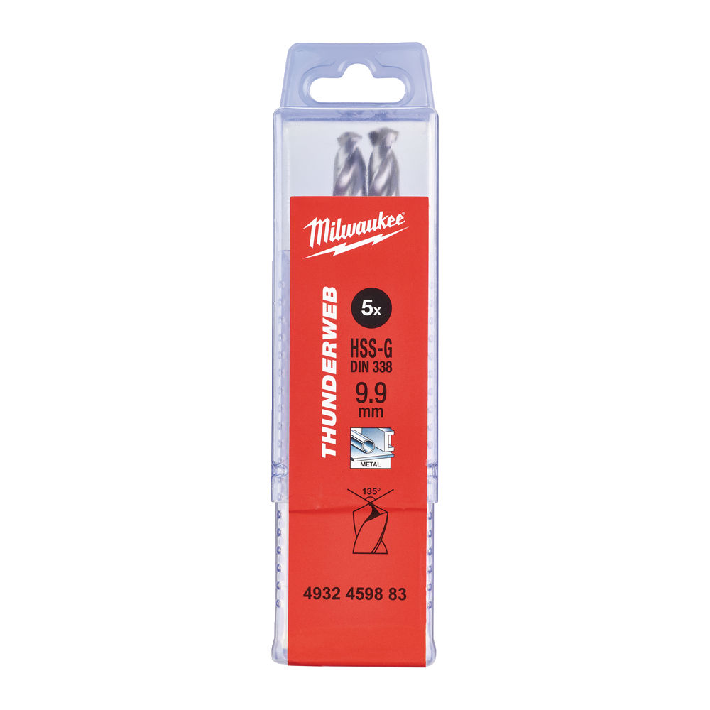 Milwaukee HSSG Metallborr 9,9mm 5-pack