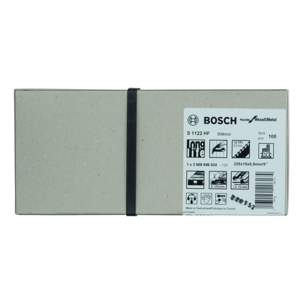 Bosch Flexible for Wood and Metal S1122HF Tigersågblad 225mm 100-pack