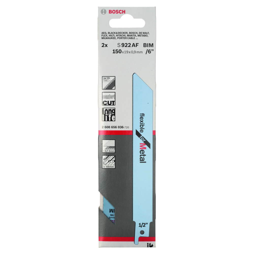 Bosch Flexible for Metal S922AF Tigersågblad 150mm 2-pack