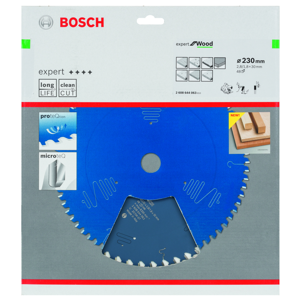 Bosch Expert for Wood Sågklinga 230x2,8x30mm 48T