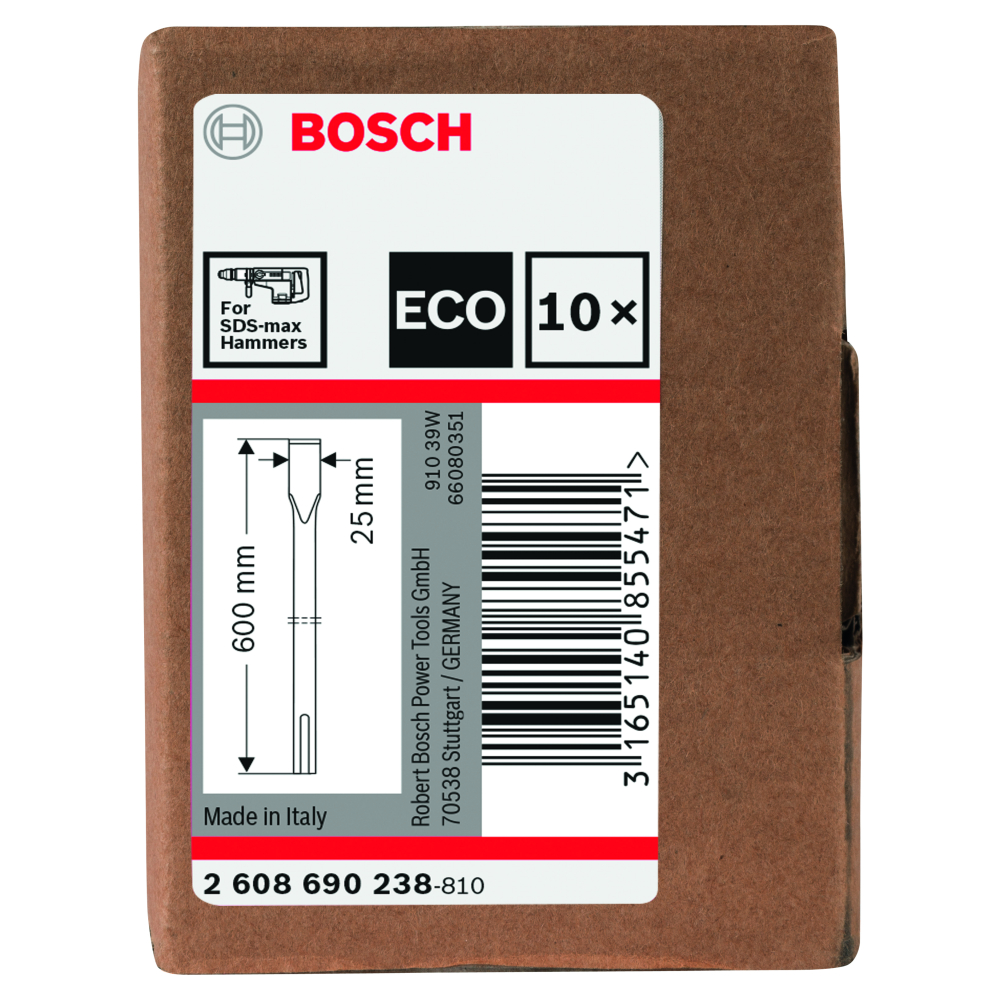 Bosch Flatmejsel SDS-Max 600mm 10-pack