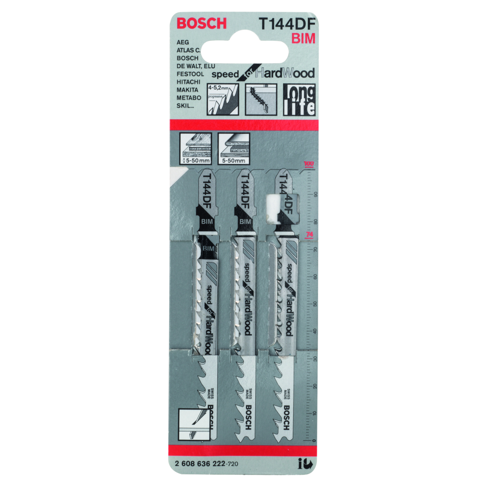 Bosch Special for Hard Wood T144DF Sticksågblad 100mm 3-pack