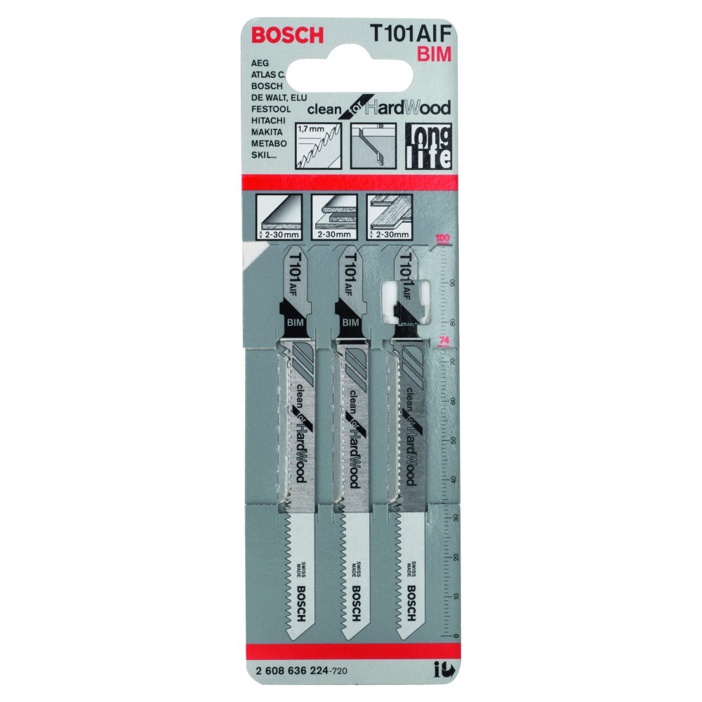 Bosch Clean for Hard Wood T101AIF Sticksågblad 100mm 3-pack