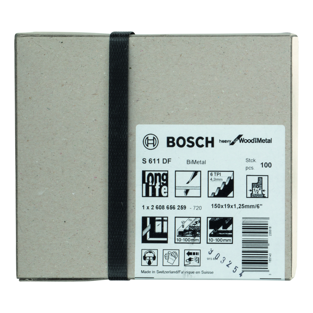 Bosch Heavy for Wood and Metal S611DF Tigersågblad 150mm 100-pack