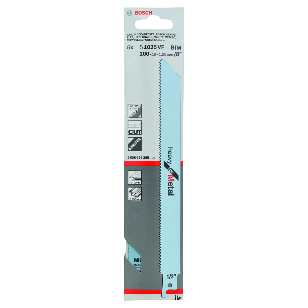Bosch Heavy for Metal S1025VF Tigersågblad 200mm 5-pack
