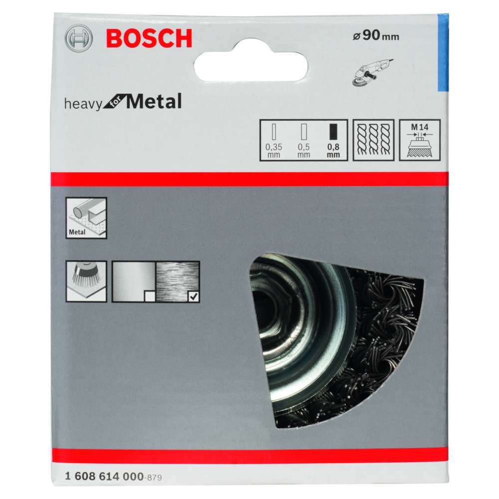 Bosch Heavy for Metal Toppstålborste M14 80mm