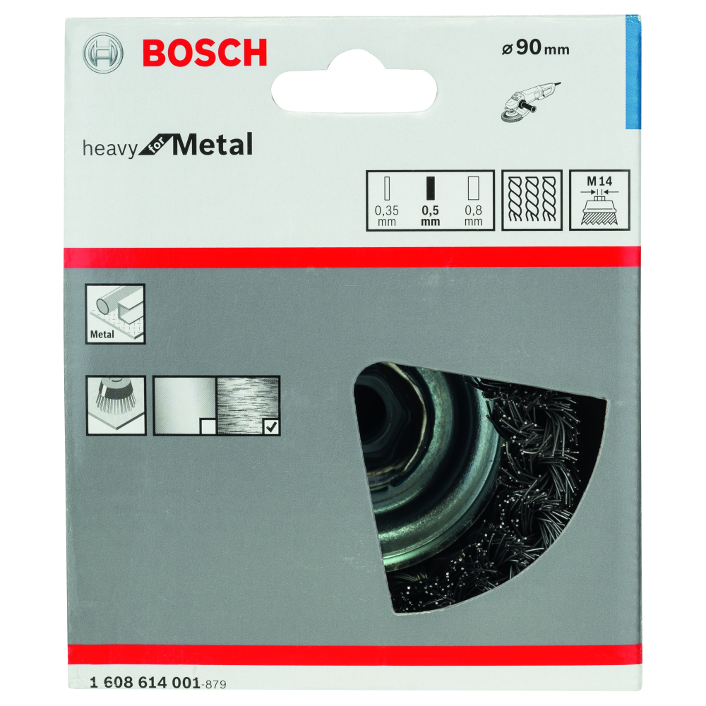 Bosch Heavy for Metal Toppstålborste M14 90mm
