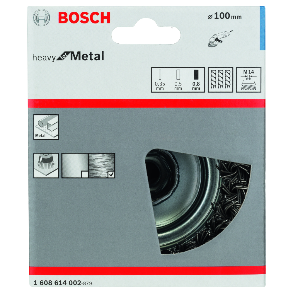 Bosch Heavy for Metal Toppstålborste M14 100mm