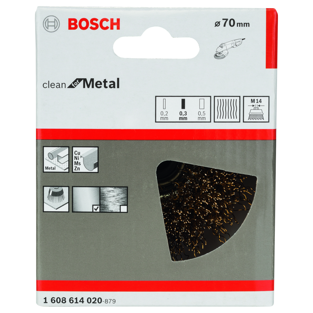 Bosch Clean for Metal Koppborste M14 70mm Vågad mässing