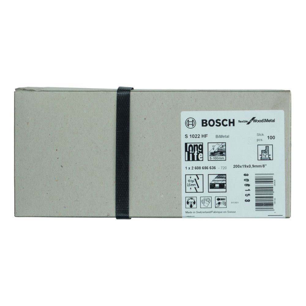 Bosch Flexible for Wood and Metal S1022HF Tigersågblad 200mm 100-pack
