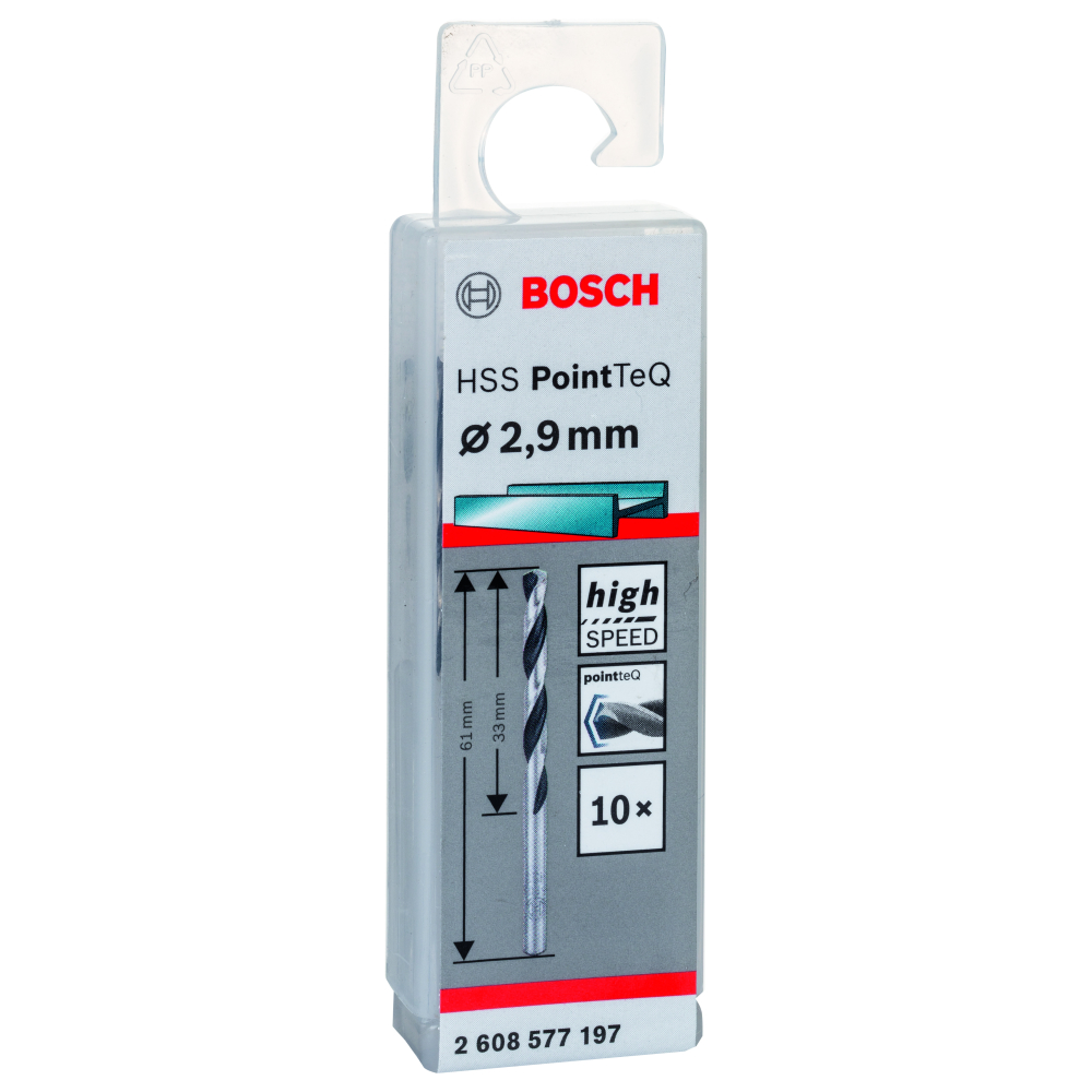 Bosch Metallborr POINTTEC HSS-R 2,9mm 10-pack