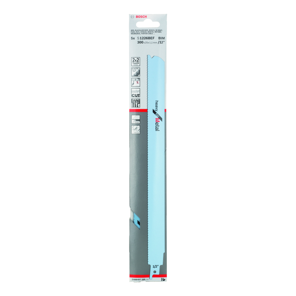 Bosch Heavy for Metal S1226BEF Tigersågblad 5-pack