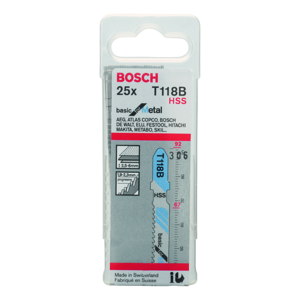 Bosch Basic for Metal T118B Sticksågblad 92mm 25-pack