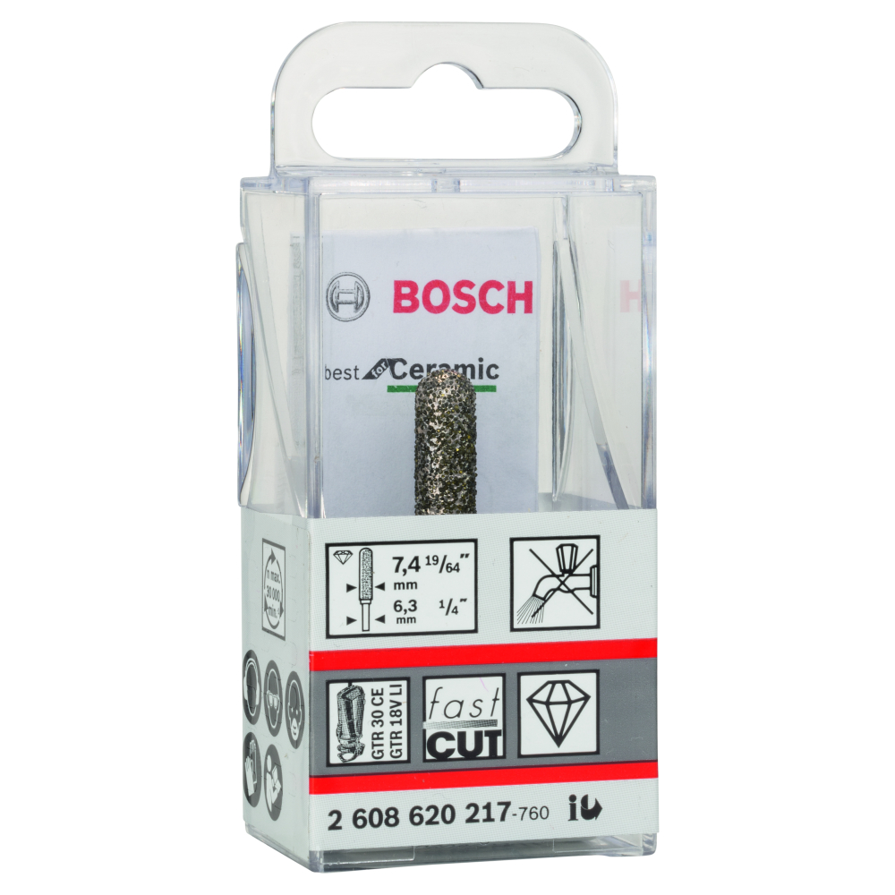 Bosch Fräsborr DIAMANT 7,2X6,3mm BEST CERAMIC