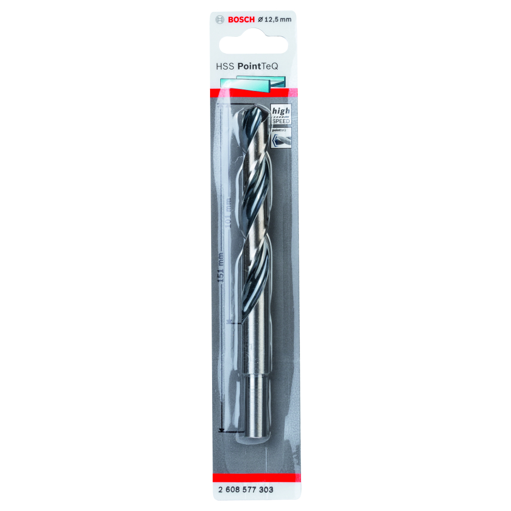 Bosch Metallborr POINTTEC HSS-R 12,5/10mm
